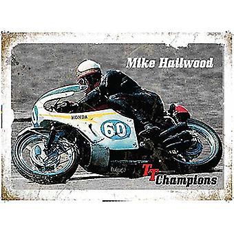 Mike Hailwood Tt Champions Large Metal Sign 400Mm X 300Mm