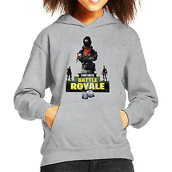 Fortnite Battle Royale With Dog Tags Kid's Hooded Sweatshirt
