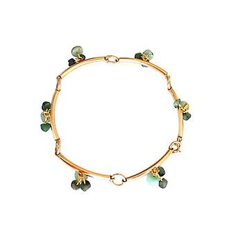 Emerald bracelet green Emerald bracelet gold plated