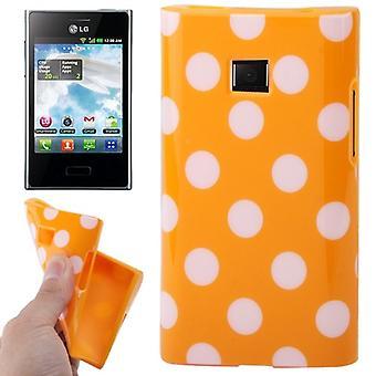 携帯電話 lg 電子オプティマス L3 のためケースの保護ケース TPU ポイント/E400