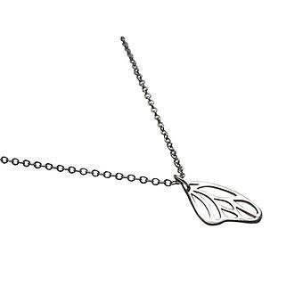 Mesdames argent collier papillon ailes 925 argent dames gros collier
