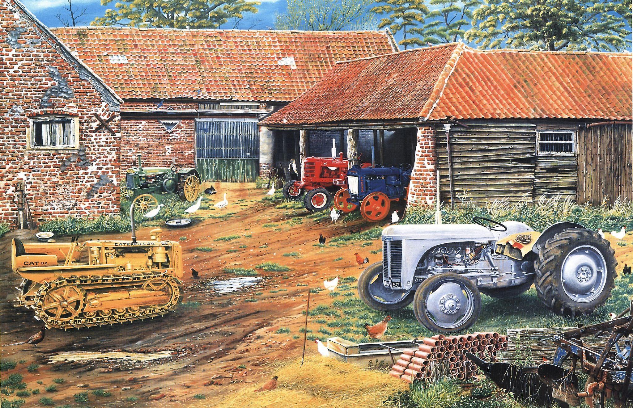 Jordbrukare Classic Collection av Roy Didwell 1000 bit pussel 690 x 480 mm (jg)