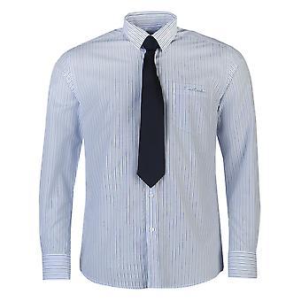 Pierre Cardin heren overhemd en stropdas Stel slimme knop Front lange mouwen en lage kraag