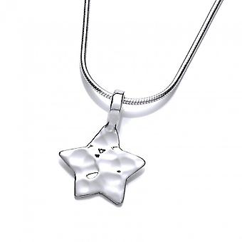 Cavendish Frans gehamerd zilveren ster hanger zonder ketting