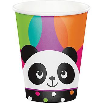 Panda Party Becher Pappe 266 ml 8 Stück Pandaparty Kindergeburtstag Deko