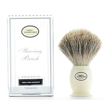Kunsten å barbering barbering pensel elfenben 100% Pure Badger håndlaget