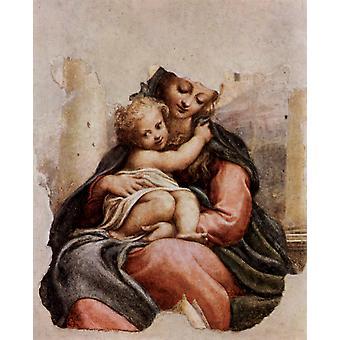 Мадонна делла Скала, Корреджо, 50x40cm