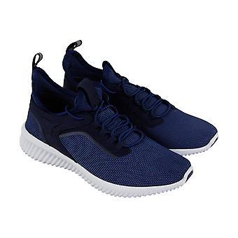 Steve Madden Gottit Mens Blue Textile Slip On Sneakers Shoes