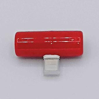 Cápsula doble luz-ning Splitter 3.5mm jack 8 pins-y rojo