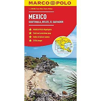 Mexico - Guatemala - Belize - El Salvador Marco Polo Map by Marco Pol