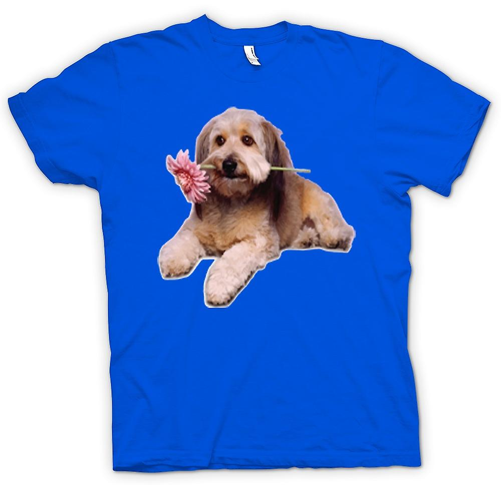 Heren T-shirt-schattige Puppy Dog Portrait