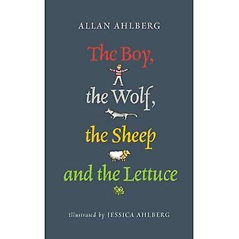 Der junge, der Wolf, das Schaf und den Salat