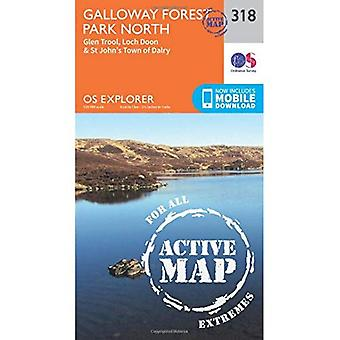 OS Explorer Map Active (318) Galloway Forest Park North (OS Explorer Active Map)