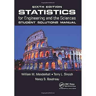 Statistiques pour l'ingénierie et les Sciences: étudiant Solutions manuelles