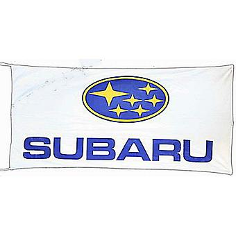 Large Subaru flag 1500mm x 900mm (white bgrd)  (of)