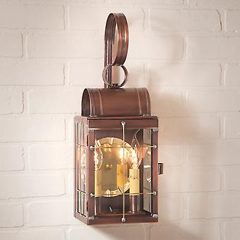 Irvin's Country Tinware Double Wall Lantern in Antique Copper