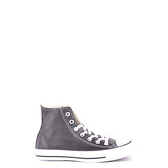 Converse Black Leather Hi Top Sneakers