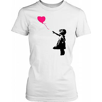 Banksy - Girl With Red Balloon - Urban Artist Ladies T Shirt
