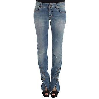 Galliano Blue Wash Cotton Blend Slim Fit Bootcut Jeans -- SIG3053360