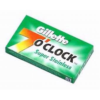 Gillette 7 O'clock Super Stainless Green Safety Razor Blades (x5)