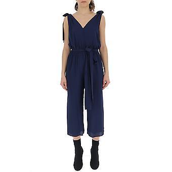 Michael Kors Blue Polyester Jumpsuit