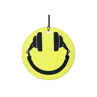 Smiley Headphones Car Air Freshener