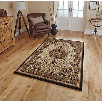 Erbe 4400 schwarz Creme Rechteck Teppiche traditionelle Teppiche