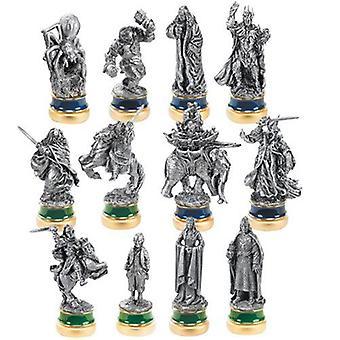 Pacchetto personaggi scacchi peltro ritorno del re 12