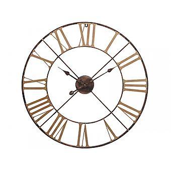 Horloge murale antique de squelette de brass de balancement