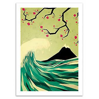 Art-poster-att falla i kärlek-YETILAND 50 x 70 cm