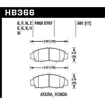 Hawk Performance HB366N.681 HP Plus