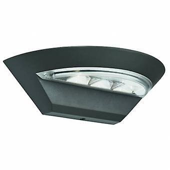 LED exterior de alumínio parede luz cinza Ip44