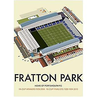 Portsmouth FC Fratton Park steel sign   300mm x 200mm  (se)
