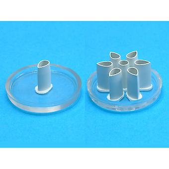 Eyelet Cutter Set 2 Pieces Petal 6 Petals Ba402
