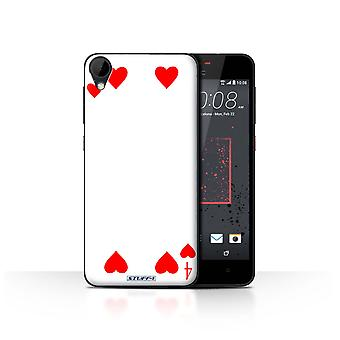 STUFF4 Case/Cover for HTC Desire 825/4 of Hearts/Playing Cards