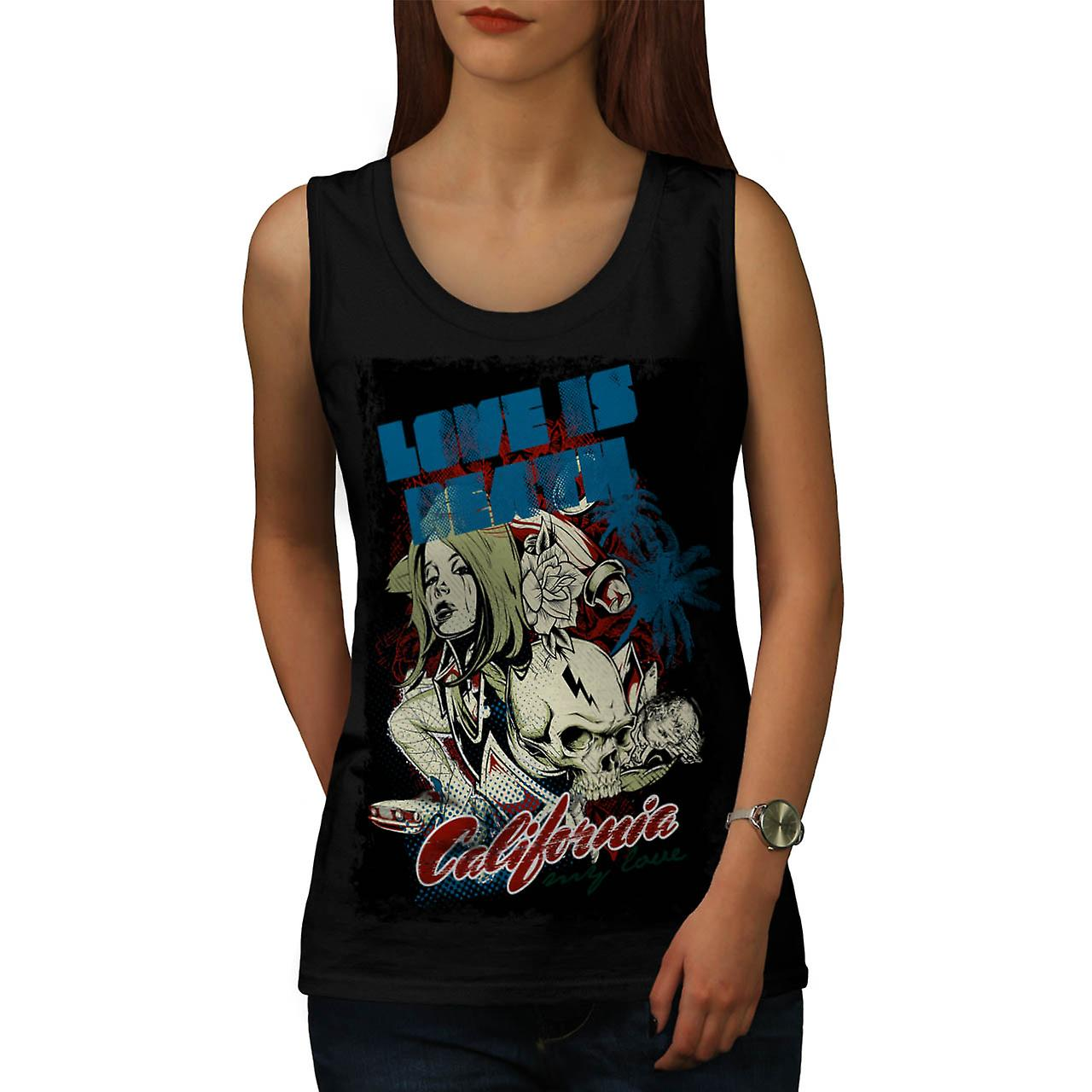 Love Is Death Fantasy California Women Black Tank Top | Wellcoda