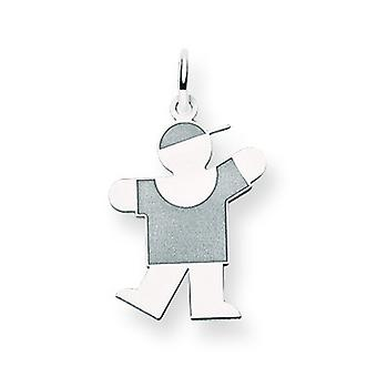 14k White Gold Kid Charm - .8 Grams