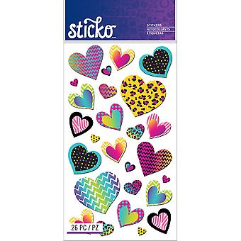 Sticko Stickers-Patterned Hearts E5201255
