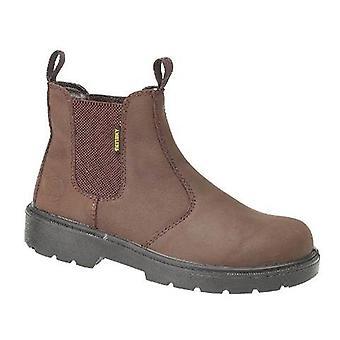 Amblers Steel FS128 Mens Boots Textile Leather PU Slip On Fastening Footwear
