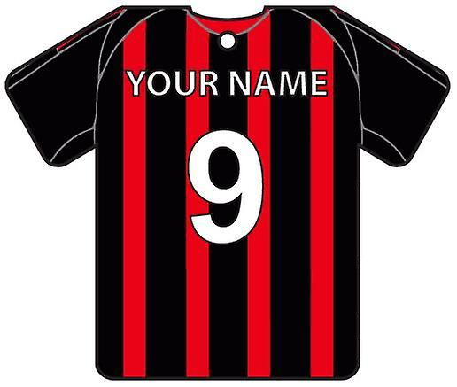Personalised AC Milan Football Shirt Car Air Freshener