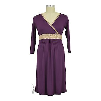 Baju Mama Emma Modal-Lace Nursing Night Dress