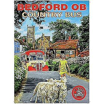 Bedford OB Country Bus small steel sign 200mm x 150mm (og)