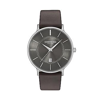 Kenneth Cole New York Herren Uhr Armbanduhr Leder KC15097005