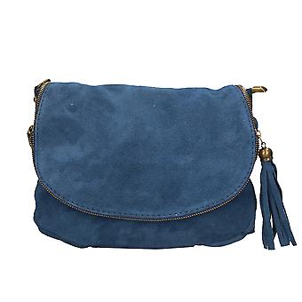 CTM women's suede leather shoulder bag Made in Italy ï ¿30x20x3 .5 Cm