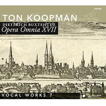 D. Buxtehude - Buxtehude: Opera Omnia Xvii - Vocal Works Volume 7 [CD] USA import