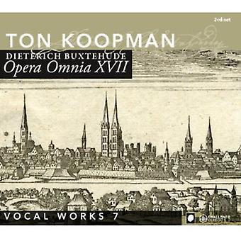 D. Buxtehude - Buxtehude: Opera Omnia Xvii - vokale værker bind 7 [CD] USA import
