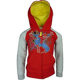 Boys Marvel Spiderman Full Zip Hooded | Sweatshirt