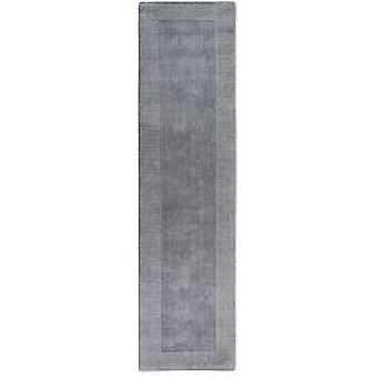 Modern Light Grey Wool Runner Rug - Tuscany
