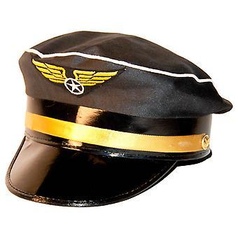 Pilot Mütze Hut Flieger Kapitän Pilotenmütze