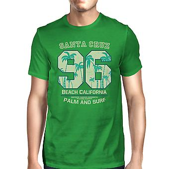 Santa Cruz Beach Californië mannen groene zomer T-shirt korte mouw